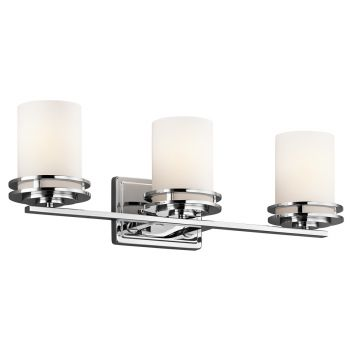 Kichler Hendrik 3-Light Bathroom Vanity Light in Chrome