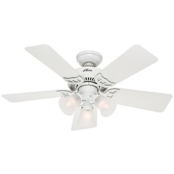 "Hunter Southern Breeze 42"" Ceiling Fan in White"