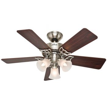 "Hunter Southern Breeze 42"" Ceiling Fan in Brushed Nickel"