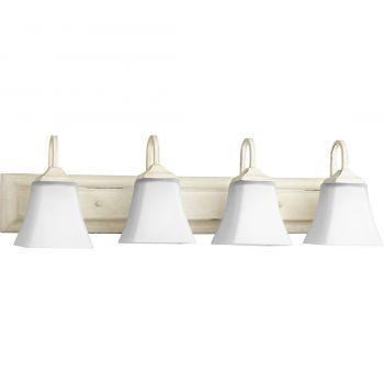 "Quorum Vani 30"" 4-Light Bathroom Vanity Light in Persian White"