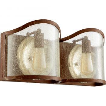 "Quorum Salento 20"" 2-Light Bathroom Vanity Light in French Umber"