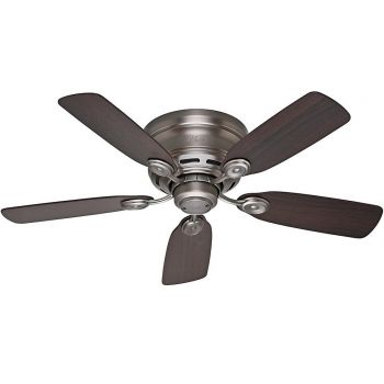 "Hunter Low Profile IV 42"" Ceiling Fan in Antique Pewter"