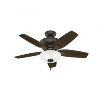 "Hunter Kenbridge 42"" 3-Light LED Indoor Ceiling Fan in Bronze/Brown"