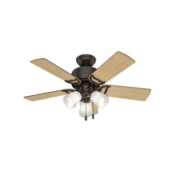 "Hunter Prim 42"" 3-Light Ceiling Fan in Premier Bronze"