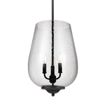 """Sea Gull Lighting Morill 12.25"""" 3-Light Foyer Pendant in Blacksmith"""