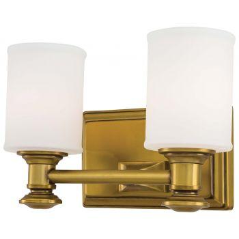 "Minka Lavery Harbour Point 2-Light 11"" Bathroom Vanity Light in Liberty Gold"
