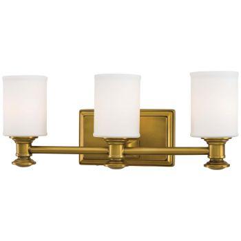 "Minka Lavery Harbour Point 3-Light 19"" Bathroom Vanity Light in Liberty Gold"