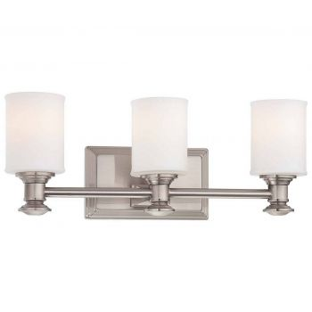 "Minka Lavery Harbour Point 3-Light 19"" Bathroom Vanity Light in Brushed Nickel"