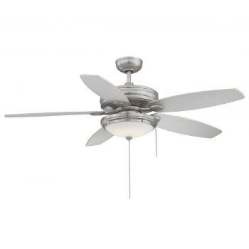 "Savoy House Kentwood 52"" 5-Blade Ceiling Fan in Satin Nickel"