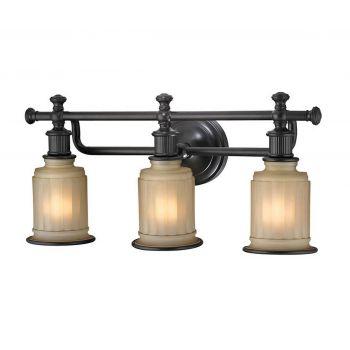 """ELK Acadia 3-Light 22"""" Bathroom Vanity Light in Oil Rubbed Bronze"""