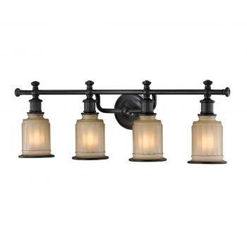 """ELK Acadia 4-Light 30"""" Bathroom Vanity Light in Oil Rubbed Bronze"""