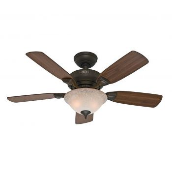 "Hunter Caraway 44"" Ceiling Fan in New Bronze"