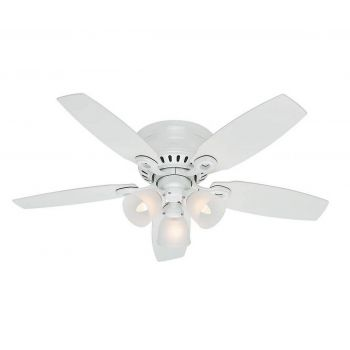 "Hunter Hatherton 46"" Ceiling Fan in Snow White"