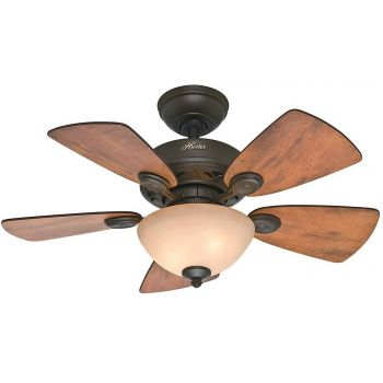 "Hunter Watson 34"" Small Ceiling Fan in New Bronze Finish"