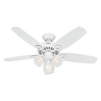 "Hunter Builder 42"" Ceiling Fan in Snow White"