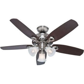 "Hunter Builder 42"" Ceiling Fan in Brushed Nickel"