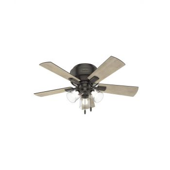"""Hunter Crestfield 42"""" 3-Light Ceiling Fan in Noble Bronze"""