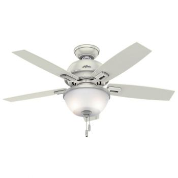 "Hunter Donegan Bowl 44"" 2-Light LED Indoor Ceiling Fan in White"