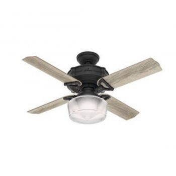 "Hunter Brunswick 44"" LED Ceiling Fan in Black"