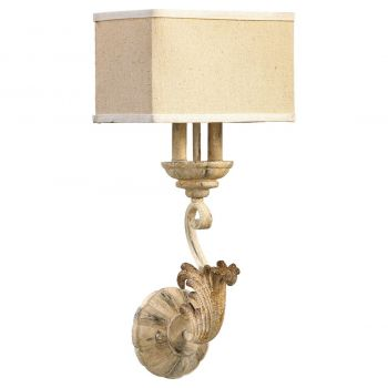 """Quorum Florence 22.75"""" 2-Light Wall Sconce in Persian White"""