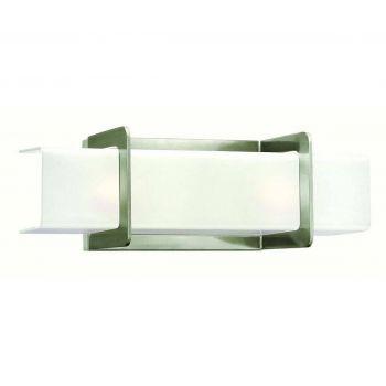 """Hinkley Union 18"""" 2-Light Bathroom Vanity Light in Brushed Nickel"""