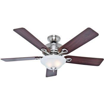 "Hunter Kensington 52"" Ceiling Fan in Brushed Nickel"