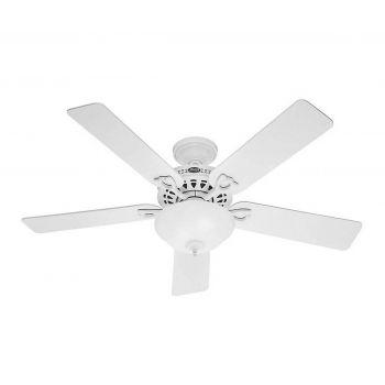 "Hunter Astoria 52"" 5-Blade Ceiling Fan in White Finish"