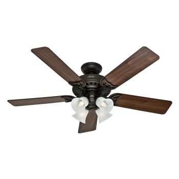 "Hunter Studio Series 52"" LED Classic Ceiling Fan in New Bronze"