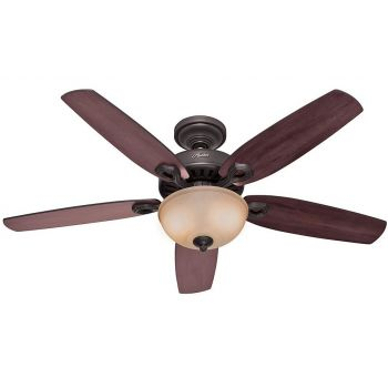 "Hunter Builder Deluxe 52"" Ceiling Fan in New Bronze"