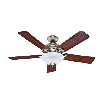 "Hunter Brookline 52"" Ceiling Fan in Brushed Nickel"