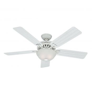"Hunter Beachcomber 52"" Outdoor Ceiling Fan in White"