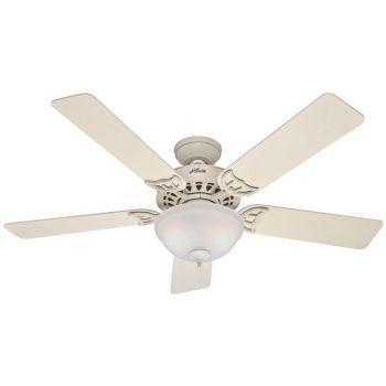 "Hunter Sonora 52"" 2-Light Ceiling Fan in French Vanilla"