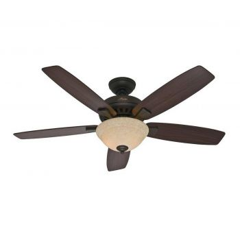 "Hunter Banyan 52"" Ceiling Fan in New Bronze Finish"