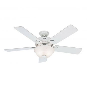 """Hunter Pro's Best 52"""" 5-Blade Ceiling Fan in White Finish"""