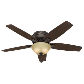 "Hunter Newsome 52"" 2-Light Indoor Ceiling Fan in Bronze/Brown"