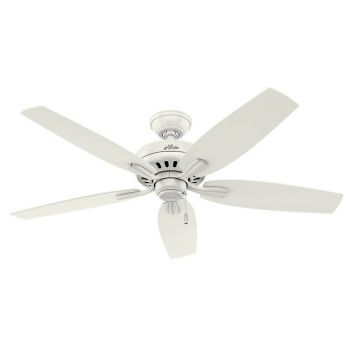 """Hunter Newsome 52"""" Indoor Ceiling Fan in White"""