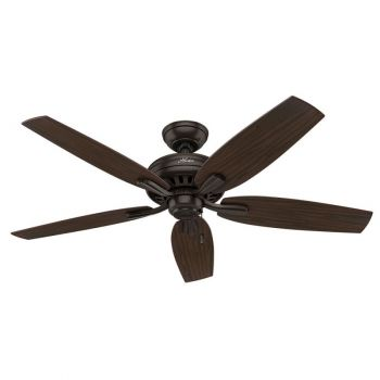 "Hunter Newsome 52"" Indoor Ceiling Fan in Bronze/Brown"