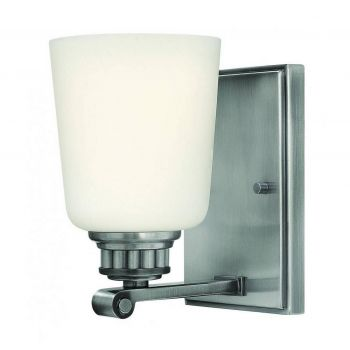 """Hinkley Annette 7.75"""" Bathroom Wall Sconce in Polished Antique Nickel"""