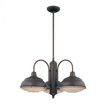 Millennium Lighting Neo-Industrial 3-Light Chandelier in Rubbed Bronze