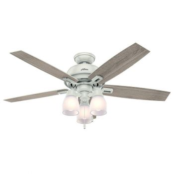 "Hunter Donegan 52"" 3-Light LED Indoor Ceiling Fan in White"