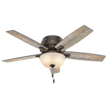 "Hunter Donegan 52"" 2-Light Ceiling Fan in Onyx Bengal"