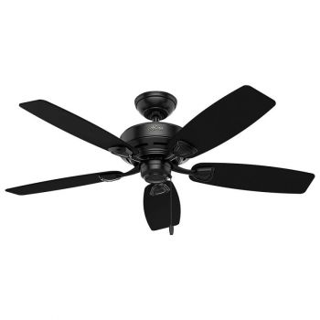 "Hunter Sea Wind 48"" Damp Rated Ceiling Fan in Black"
