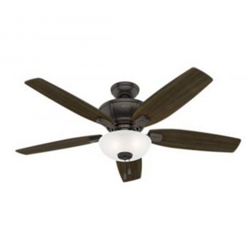 Hunter Kenbridge 3-Light LED Indoor Ceiling Fan in Bronze/Brown