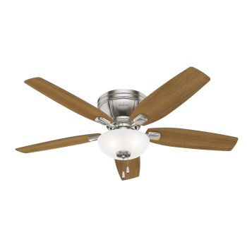 "Hunter Kenbridge 52"" 3-Light Ceiling Fan in Brushed Nickel"