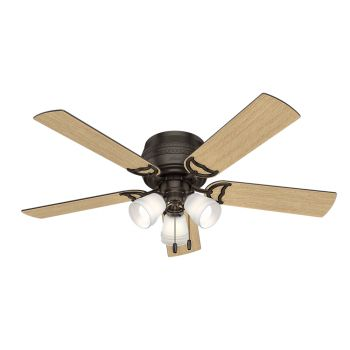 "Hunter Prim 52"" 3-Light Ceiling Fan in Premier Bronze"