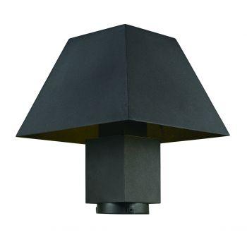 "Maxim Lighting Pavilion 11.5"" Outdoor Post Lantern in Black"