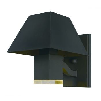 """Maxim Lighting Pavilion 8.5"""" 2-Light Outdoor Clear Wall Mount in Black"""