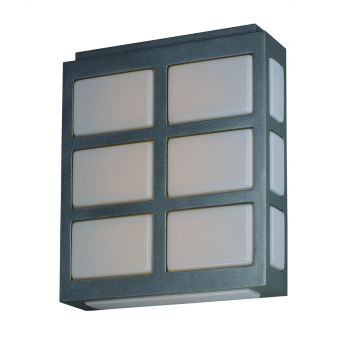 "Maxim Lighting Packs 10.25"" 3-Light Outdoor Wall Mount in Metallic Silver"