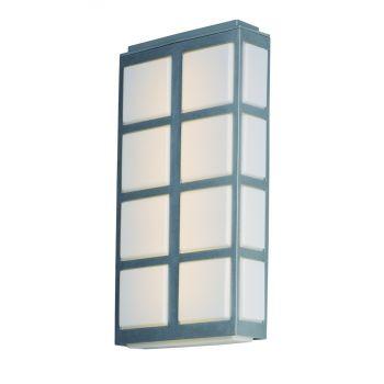 "Maxim Lighting Packs 20"" 4-Light Outdoor Wall Mount in Metallic Silver"