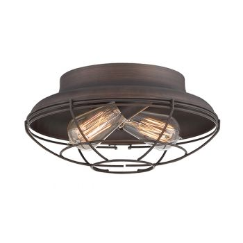 Millennium Lighting Neo-Industrial 2-Light Ceiling Light in Rubbed Bronze